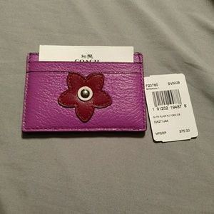 Coach flower accent card holder!